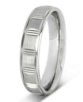5mm Mens Ring with F35 finish - Hamilton & Lewis Jewellery