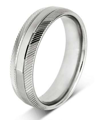 5mm Mens Ring with F37 finish - Hamilton & Lewis Jewellery