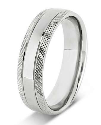 5mm Mens Ring with F38 finish - Hamilton & Lewis Jewellery