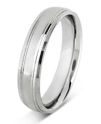 5mm Mens Ring with F42 finish - Hamilton & Lewis Jewellery