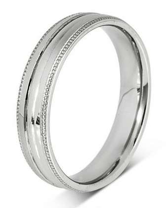 5mm Mens Ring with F44 finish - Hamilton & Lewis Jewellery