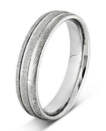 5mm Mens Ring with F45 finish - Hamilton & Lewis Jewellery