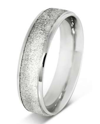 5mm Mens Ring with F46 finish - Hamilton & Lewis Jewellery