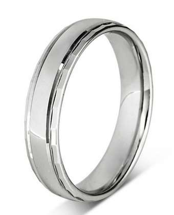 5mm Mens Ring with F47 finish - Hamilton & Lewis Jewellery