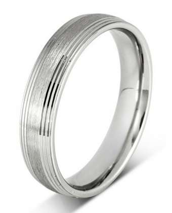 5mm Mens Ring with F48 finish - Hamilton & Lewis Jewellery