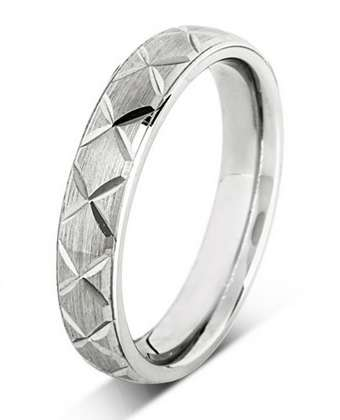5mm Mens Ring with F49 finish - Hamilton & Lewis Jewellery