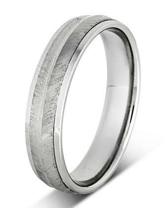 5mm Mens Ring with F50 finish - Hamilton & Lewis Jewellery