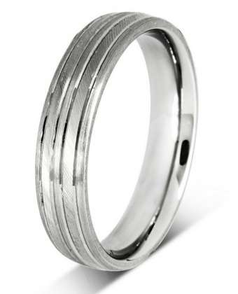 5mm Mens Ring with F51 finish - Hamilton & Lewis Jewellery