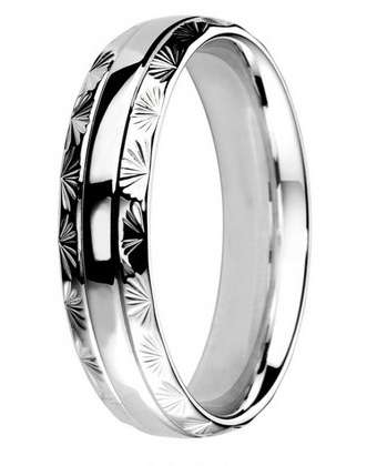 5mm Mens Ring with F57 finish - Hamilton & Lewis Jewellery