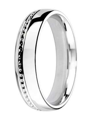 5mm Mens Ring with F60 finish - Hamilton & Lewis Jewellery