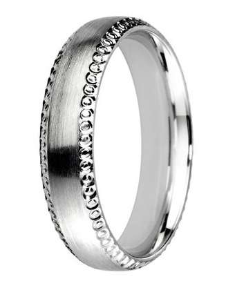 5mm Mens Ring with F61 finish - Hamilton & Lewis Jewellery