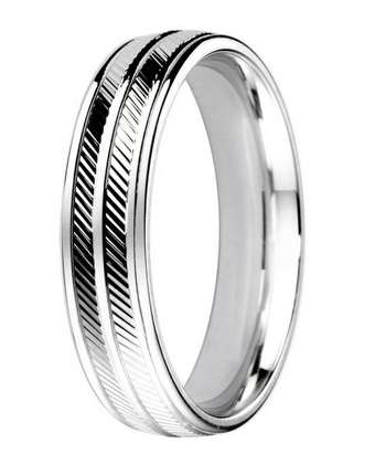 5mm Mens Ring with F63 finish - Hamilton & Lewis Jewellery