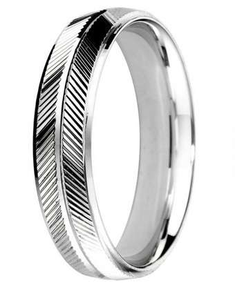 5mm Mens Ring with F64 finish - Hamilton & Lewis Jewellery