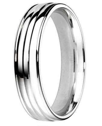 5mm Mens Ring with F65 finish - Hamilton & Lewis Jewellery
