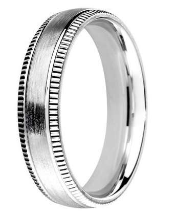 5mm Mens Ring with F67 finish - Hamilton & Lewis Jewellery
