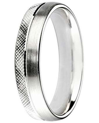 5mm Mens Ring with F68 finish - Hamilton & Lewis Jewellery