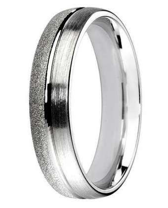 5mm Mens Ring with F69 finish - Hamilton & Lewis Jewellery