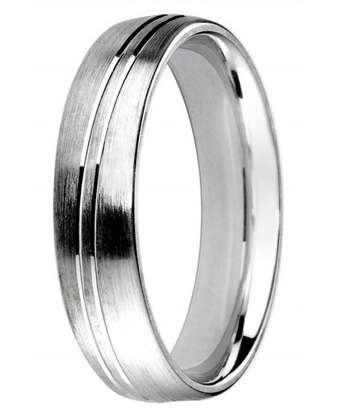 5mm Mens Ring with F70 finish - Hamilton & Lewis Jewellery