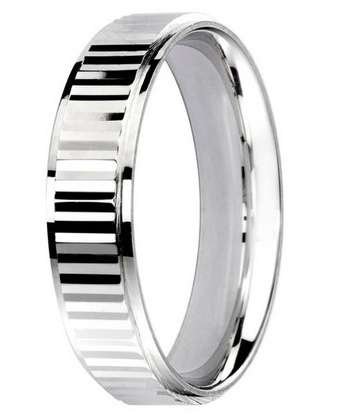 5mm Mens Ring with F71 finish - Hamilton & Lewis Jewellery