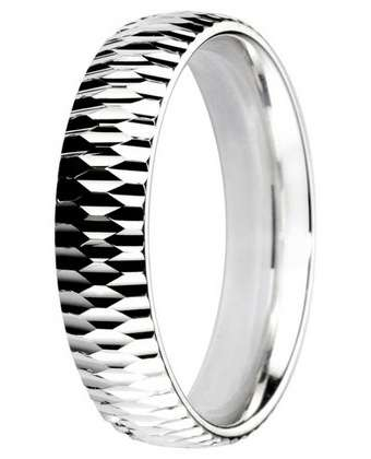 5mm Mens Ring with F72 finish - Hamilton & Lewis Jewellery