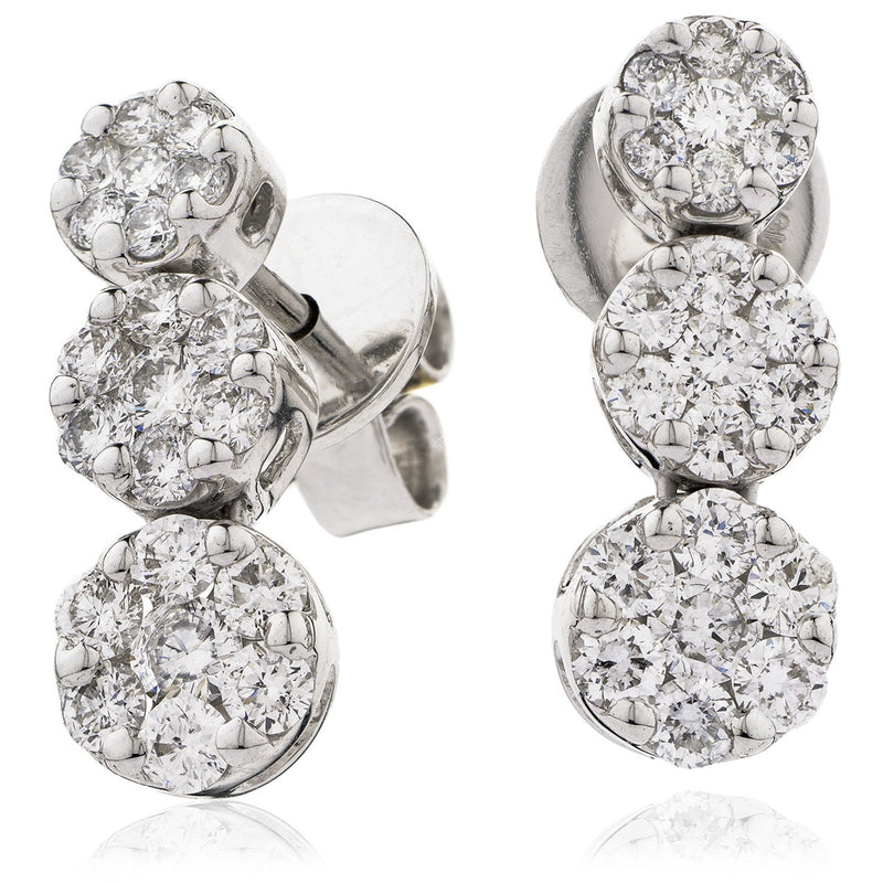 Diamond Drop Earring Set 1.20ct - Hamilton & Lewis Jewellery