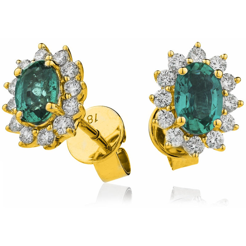 Emerald Earring Set 1.40ct - 2.00ct - Hamilton & Lewis Jewellery