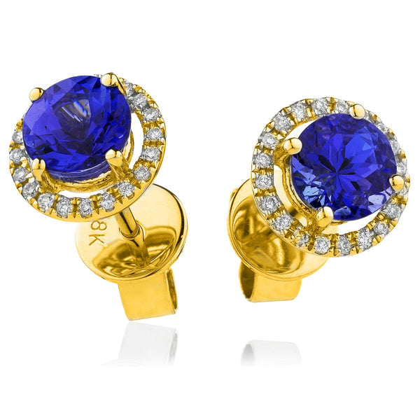 Diamond & Blue Sapphire Earrings 1.30ct - Hamilton & Lewis Jewellery