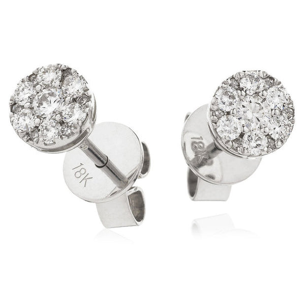 Cluster Earring Set 0.35ct - Hamilton & Lewis Jewellery