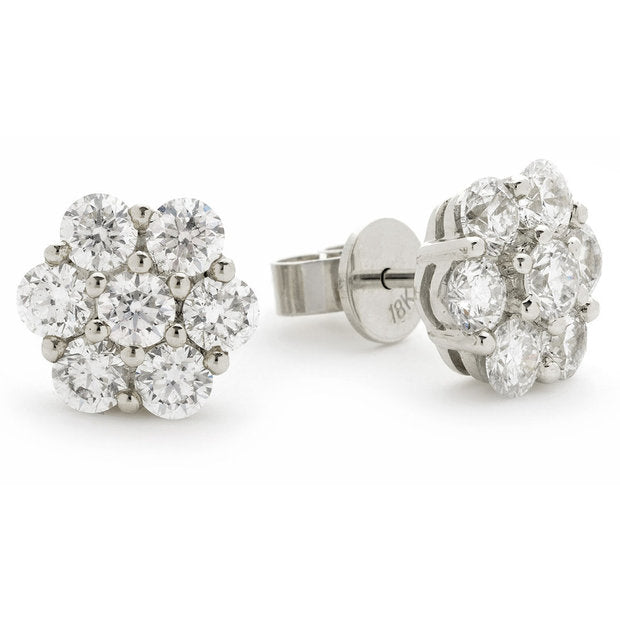 Cluster Earring Set 1.35ct - 2.00ct - Hamilton & Lewis Jewellery