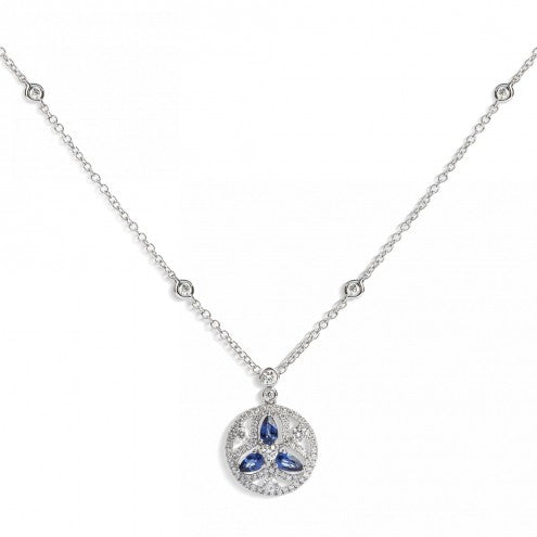 Mandala Necklace- Blue Sapphire 1.14ct - Hamilton & Lewis Jewellery