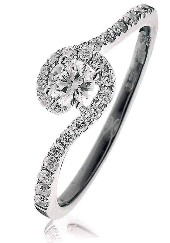 Halo Ring 0.50ct - 0.80ct - Hamilton & Lewis Jewellery