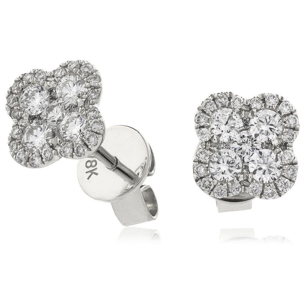 Flower Cluster Earring Set 0.50ct - 1.20ct - Hamilton & Lewis Jewellery