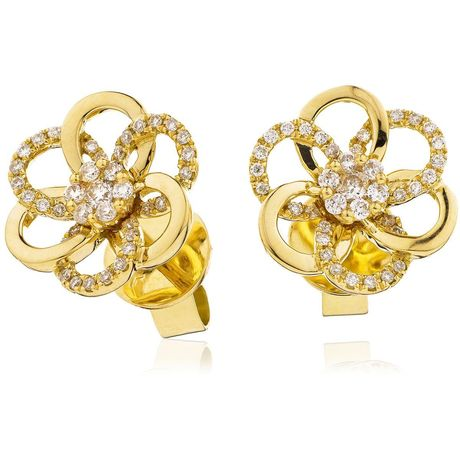 Flower Cluster Earring Set 0.20ct - Hamilton & Lewis Jewellery