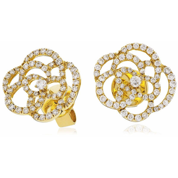 Flower Cluster Earring Set 0.70ct - Hamilton & Lewis Jewellery