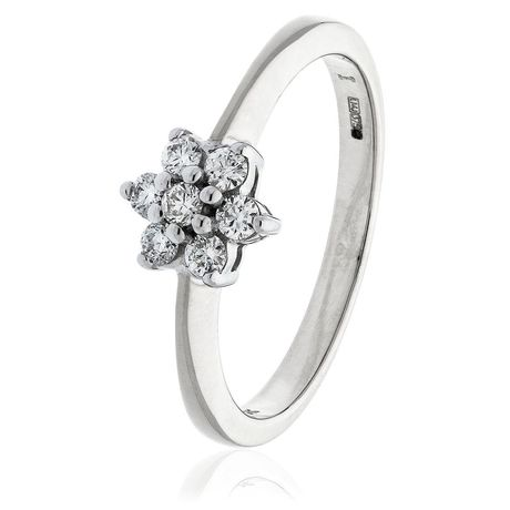 Classic Cluster Ring 0.25ct - 3.00ct - Hamilton & Lewis Jewellery