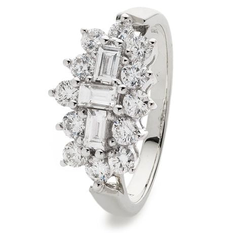 Classic Boat Cluster Ring 0.50ct - 2.00ct - Hamilton & Lewis Jewellery