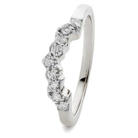 Wishbone Shaped Wedding Ring 0.25ct - 1.00ct - Hamilton & Lewis Jewellery
