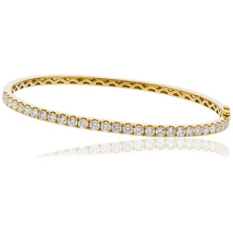 Claw set bangle 0.60ct - 4.00ct - Hamilton & Lewis Jewellery