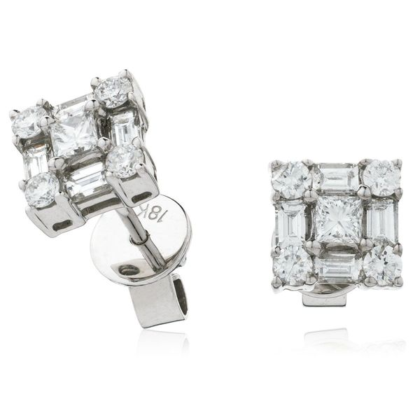 Cluster Earring Set 0.80ct - 1.00ct - Hamilton & Lewis Jewellery