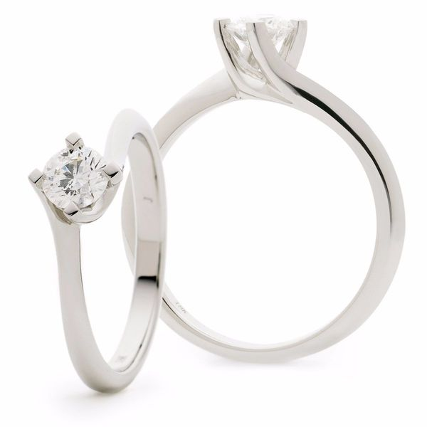 Twist Solitaire Ring 0.20ct - 0.50ct - Hamilton & Lewis Jewellery