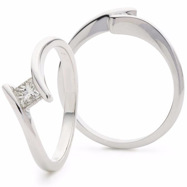 Princess Solitaire Ring 0.25ct - Hamilton & Lewis Jewellery