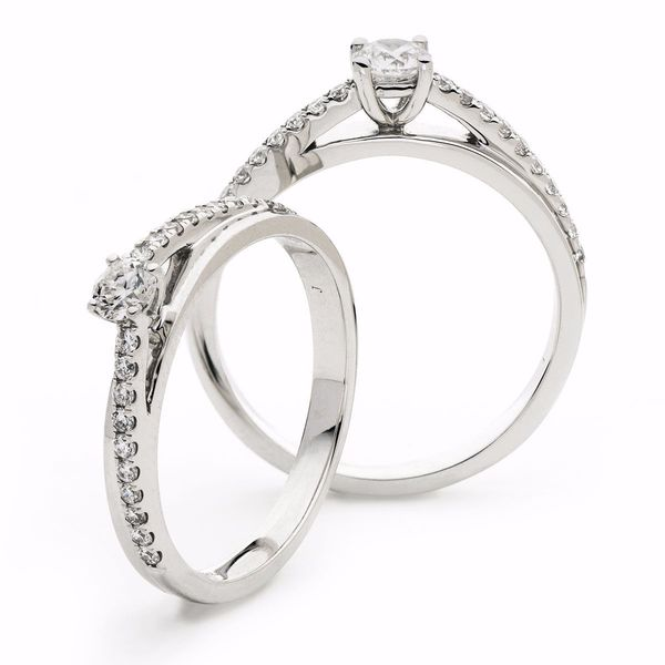 Round Twist Four Claw Ring 0.30ct - 0.60ct - Hamilton & Lewis Jewellery