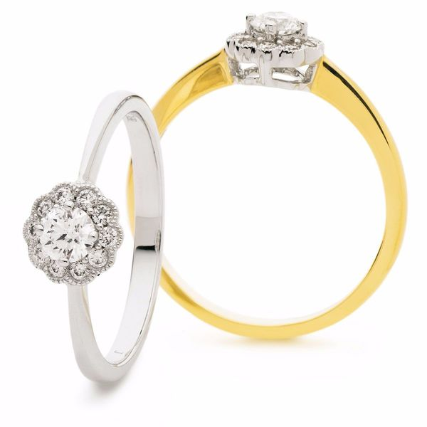 Halo Ring 0.30ct - Hamilton & Lewis Jewellery
