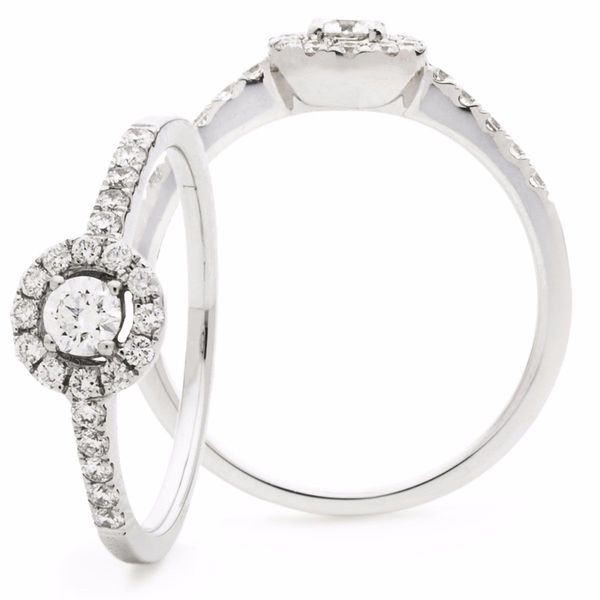 Halo Ring 0.40ct - 0.75ct - Hamilton & Lewis Jewellery