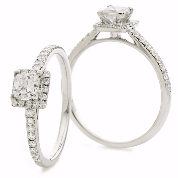 Princess Halo Ring 0.35ct - 0.75ct - Hamilton & Lewis Jewellery