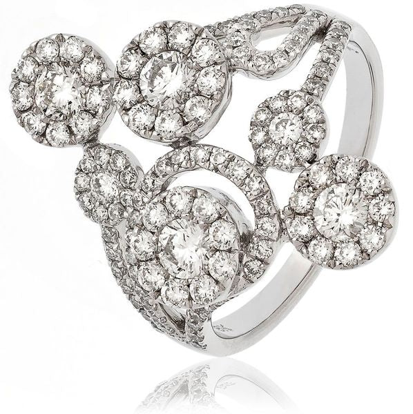 Classic Cocktail Cluster Ring 1.45ct - Hamilton & Lewis Jewellery
