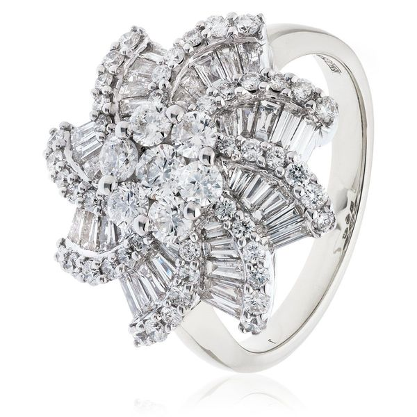 Classic Cocktail Cluster Ring 1.20ct - 2.00ct - Hamilton & Lewis Jewellery