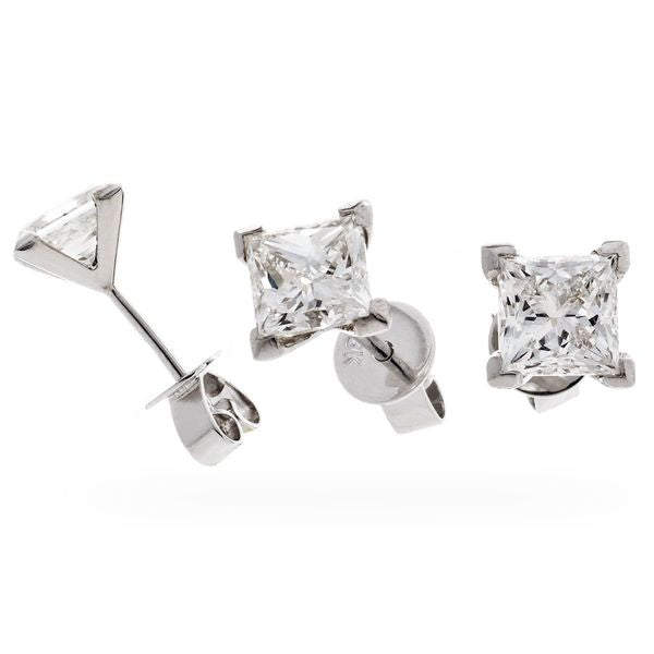 Solitaire Four Claw Earring Set 0.25ct - 2.00ct - Hamilton & Lewis Jewellery