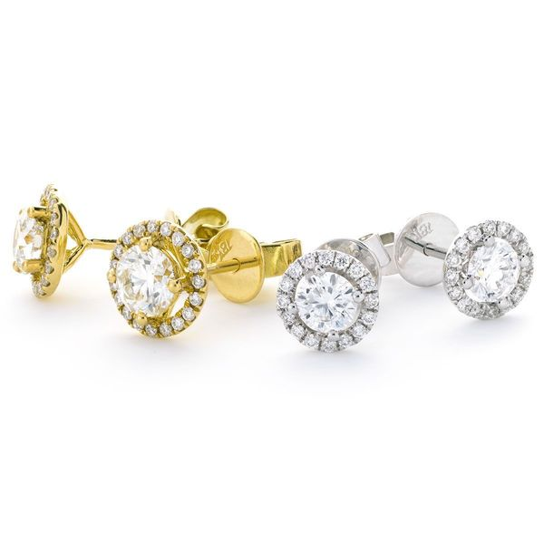 Halo Earring Set 0.35ct - 1.60ct - Hamilton & Lewis Jewellery