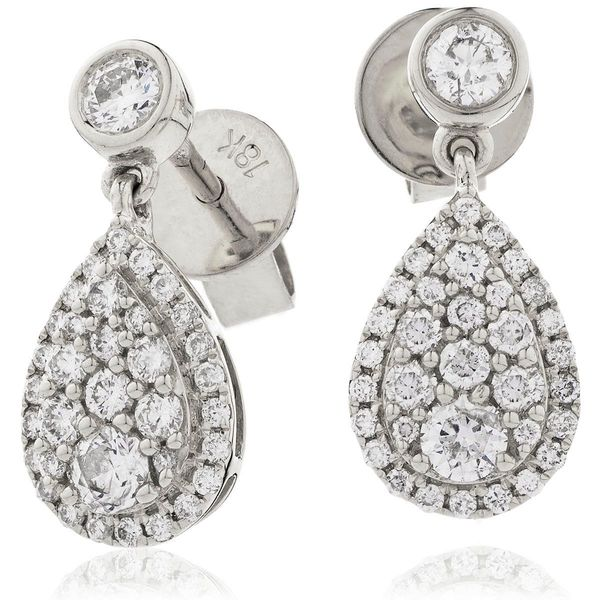 Diamond Drop Earring Set 0.70ct - 1.00ct - Hamilton & Lewis Jewellery
